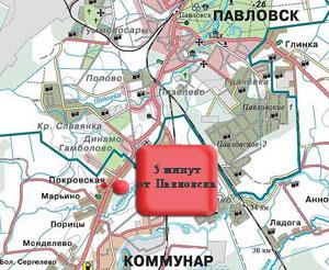 """место расположения коттеджного поселка """"Покровская горка"""""""